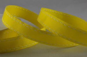 GROSGRAIN SADDLE STITCH RIBBON YELLOW 54285